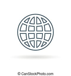 Globe icon on white background