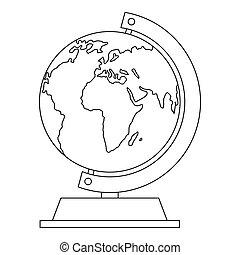 Globe icon, outline style.