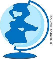 Globe icon. Planet concept. Earth symbol. Flat vector illustration