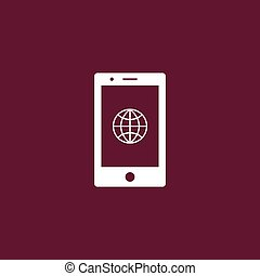 Globe icon simple illustration