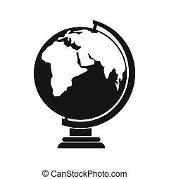Globe icon, simple style