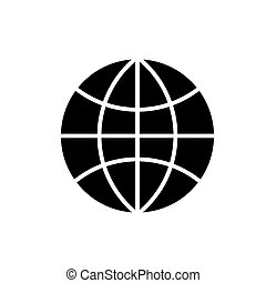 globe icon, vector illustration, black sign on isolated background