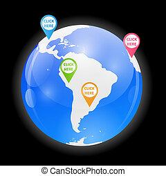 Globe Icon Vector Illustration