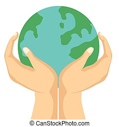 Globe in a hands