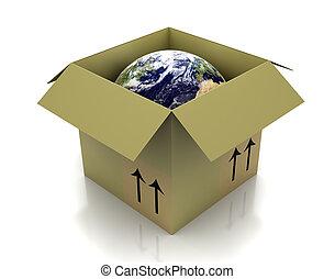 globe, in doos