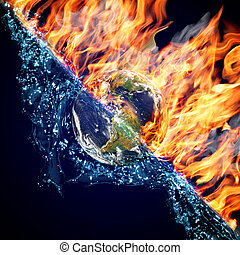 Globe in Fire and Water