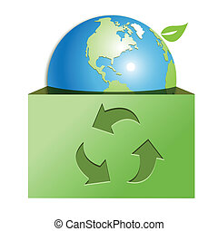 globe in green box