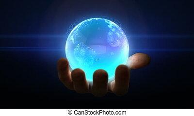Globe in hand loop