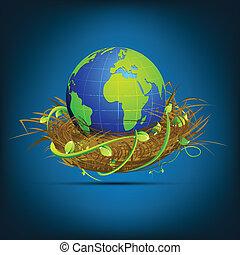 Globe in Nest