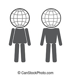 globe in the form of people