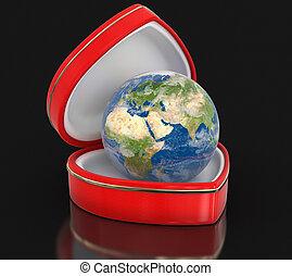Globe in the heart box