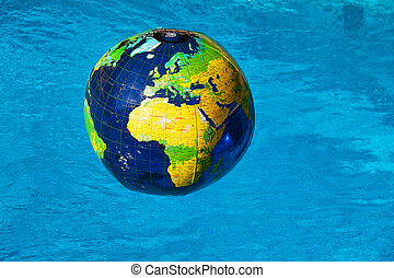globe in the water