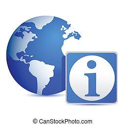 globe info illustration design