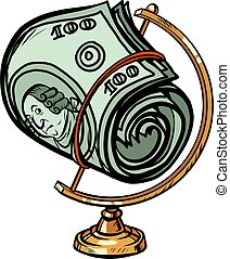 globe international a bundle of hundred-dollar bills