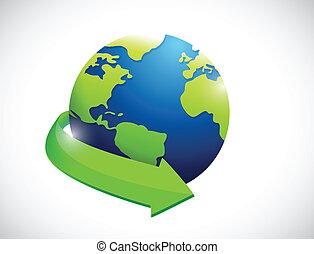 globe. international concept illustration design