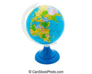 globe, isolated on white background
