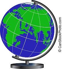 globe isolated on white background vector illustration