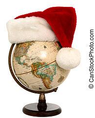 globe, kerstmis