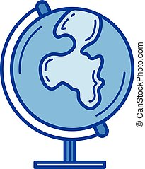 Globe line icon.