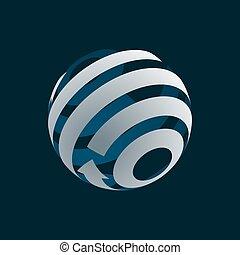 Globe Logo Element symbol of Globalization. .