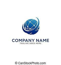 Globe Logo Icon Design Vector Illustration icon Element. Global Logo Design Template. Earth World Logo Illustration