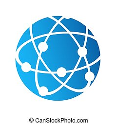 Globe logo icon, internet connection communication concept, stock vector illustration