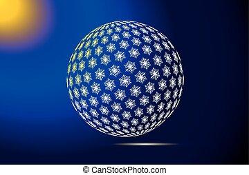 globe logo of snowflakes