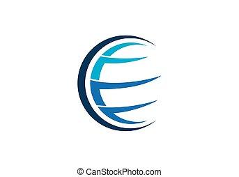 Globe logo vector