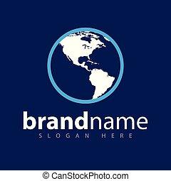 globe map logo icon vector template