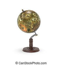 Globe map of io 3d rendering