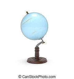 Globe map of uranus 3d rendering