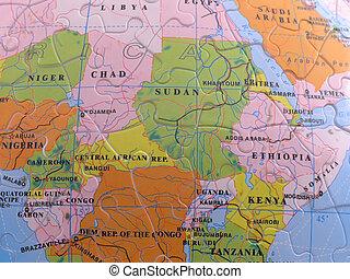 Globe Map Puzzle - Africa