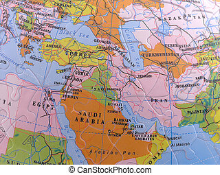 Globe Map Puzzle - Middle East - Spherical Globe Map Puzzle...