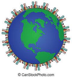 globe modern and urban