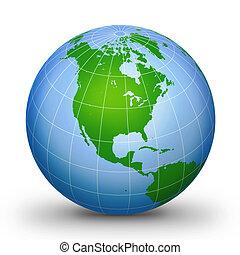 globe mondial, 2, géographique