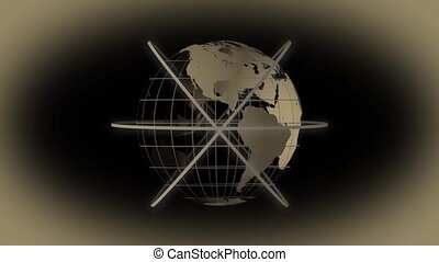 globe mondial, animation