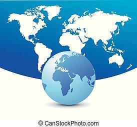 globe mondial, carte