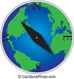 globe mondial, compas