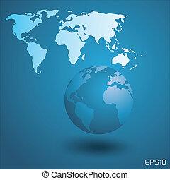 globe mondial, map.