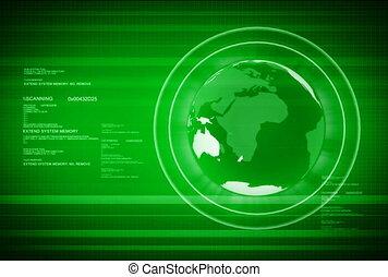 globe mondial, ntsc, numérique