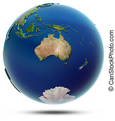 globe mondial, océanie, -