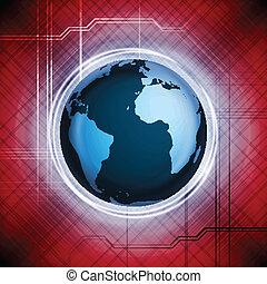 globe mondial, vecteur, conception