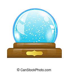 globe, neige
