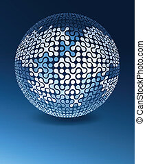 Globe network concept with copy space. Vector illustration, EPS10.