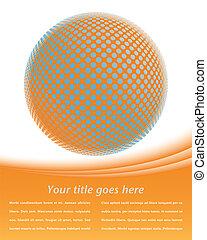globe, numérique, coloré, design.