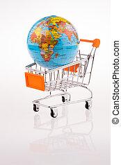Globe on a Cart