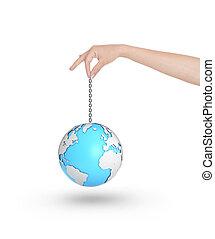 globe on a chain