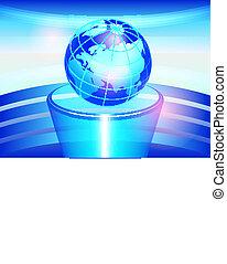 Globe on a pedestal