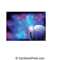 Globe on abstract background