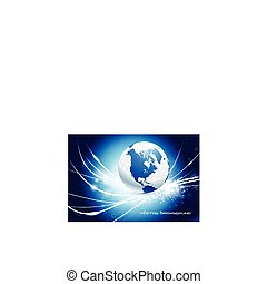Globe on Abstract Modern Light Background